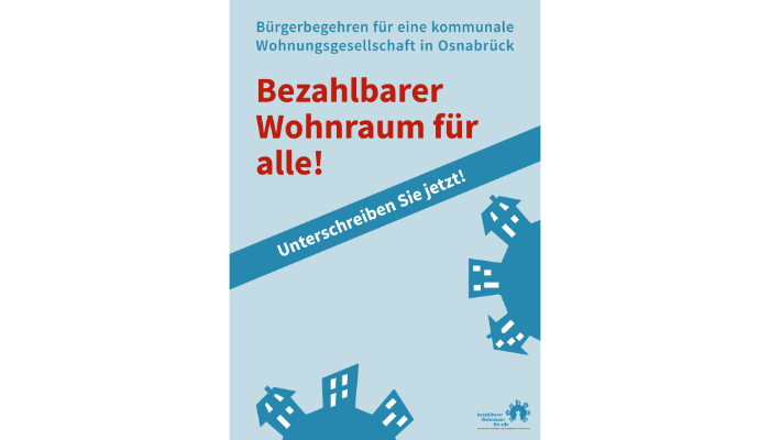 Plakat Osnabrücker Bündnis für bezahlbaren Wohnraum